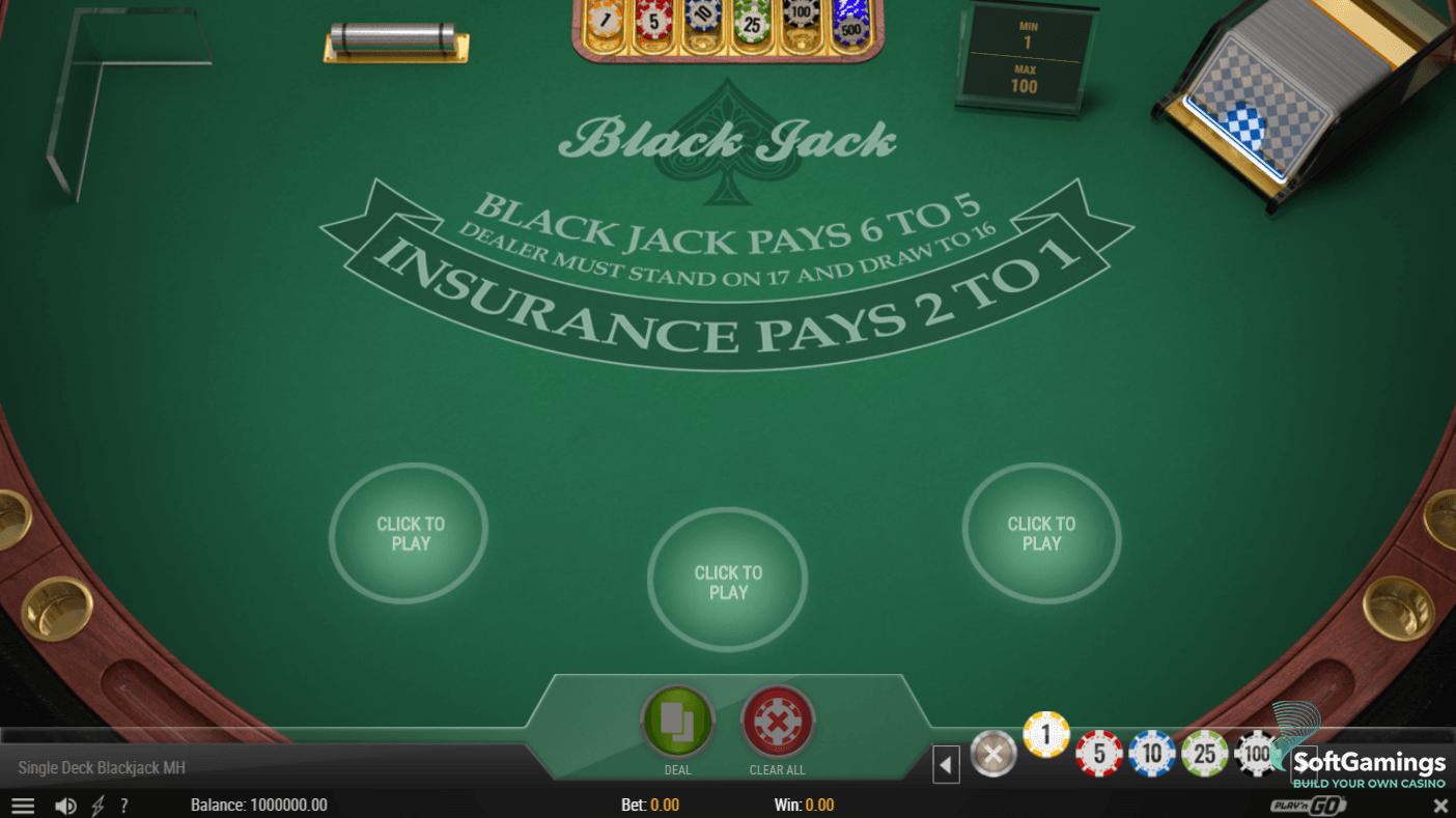Online Double Exposure Blackjack